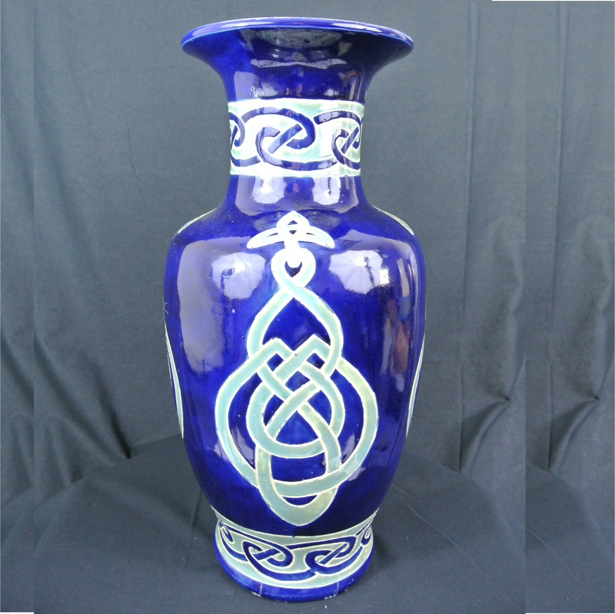 Large blue/green oriental style vase