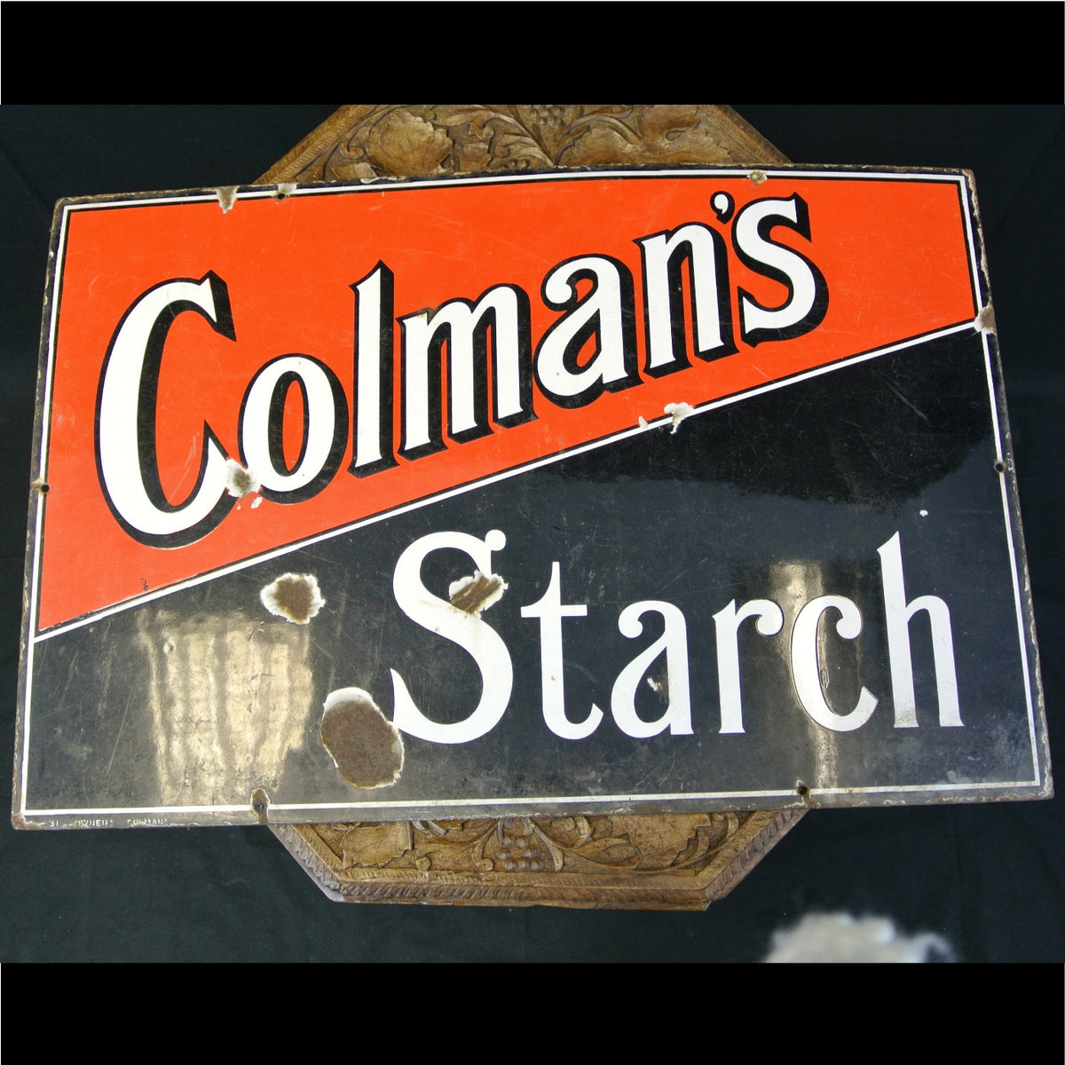 Colmans Starch enamel sign