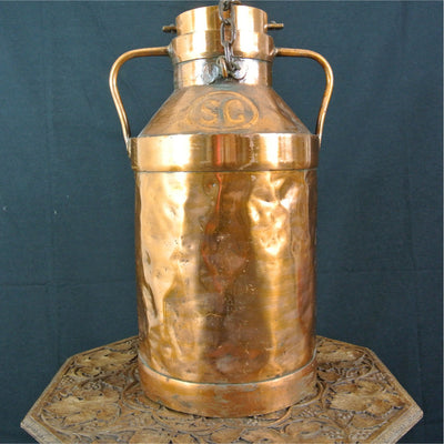 Copper milk churn - original