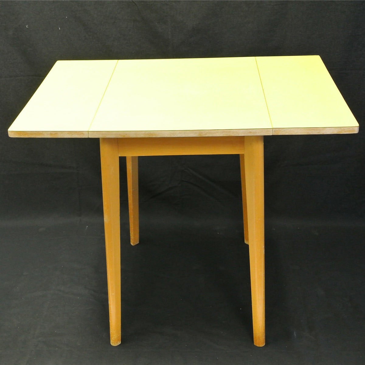 Vintage 1950's yellow formica folding table