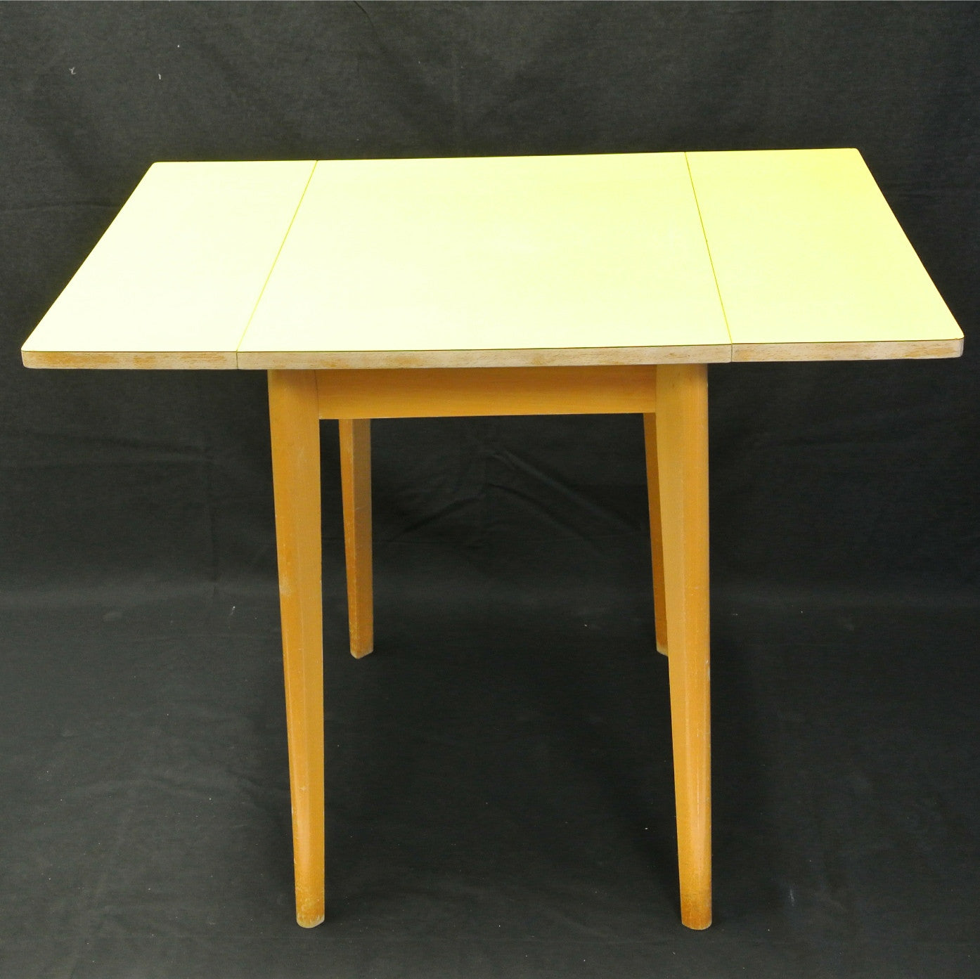Vintage 1950u0027s Yellow Formica Folding Table