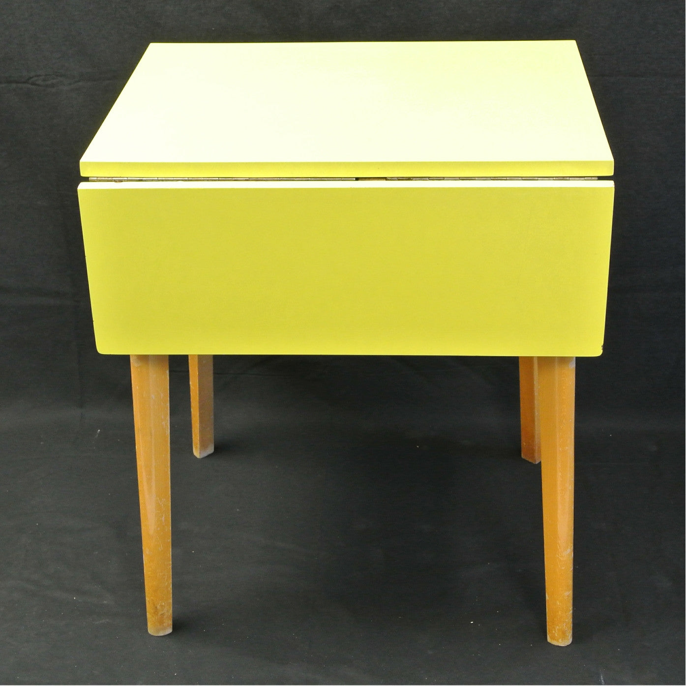 Vintage 1950 S Yellow Formica Folding Table Home Alchemy