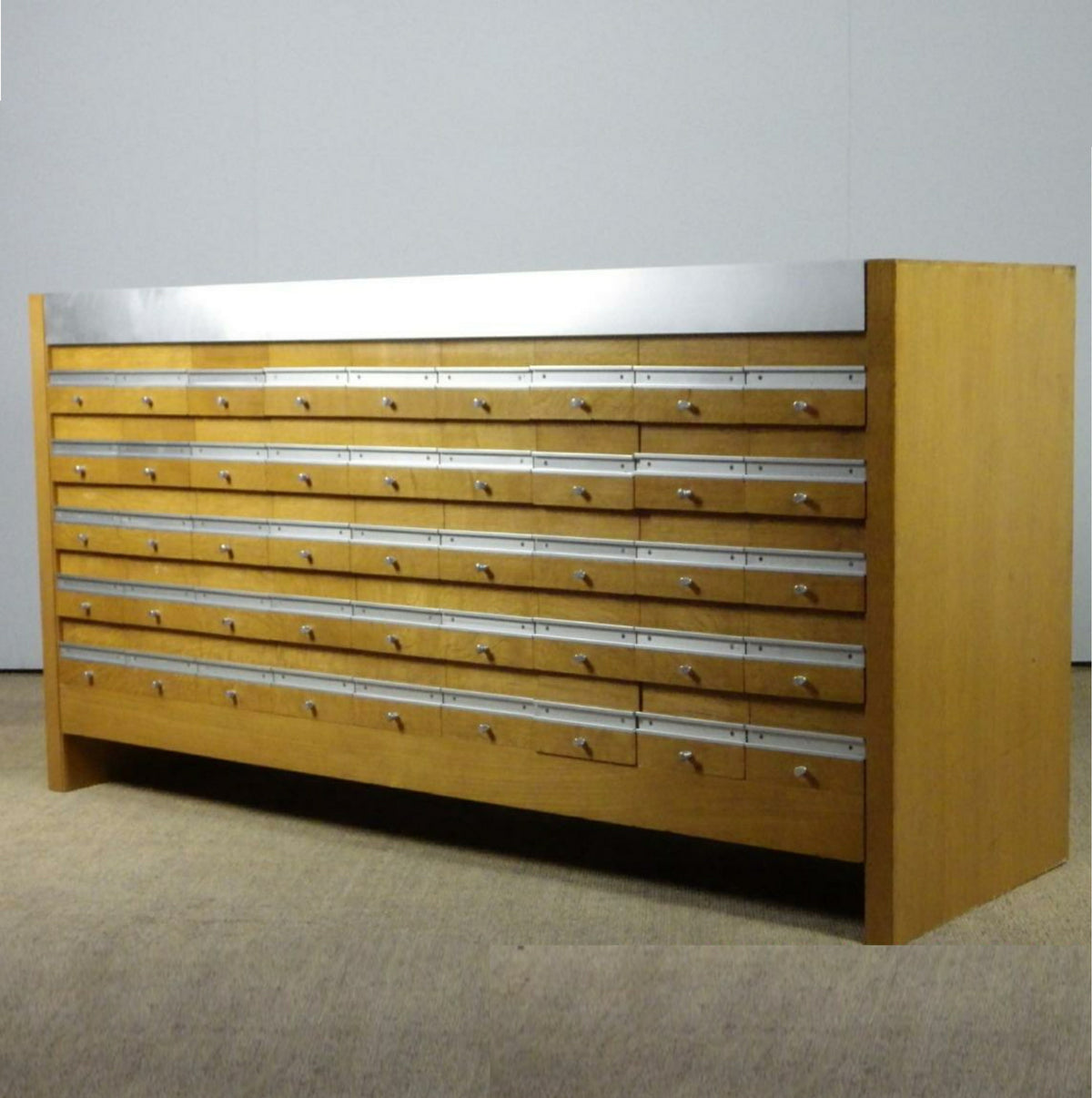 Oak Library Index Cabinet