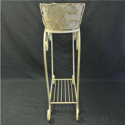 Wrought iron planter and stand
