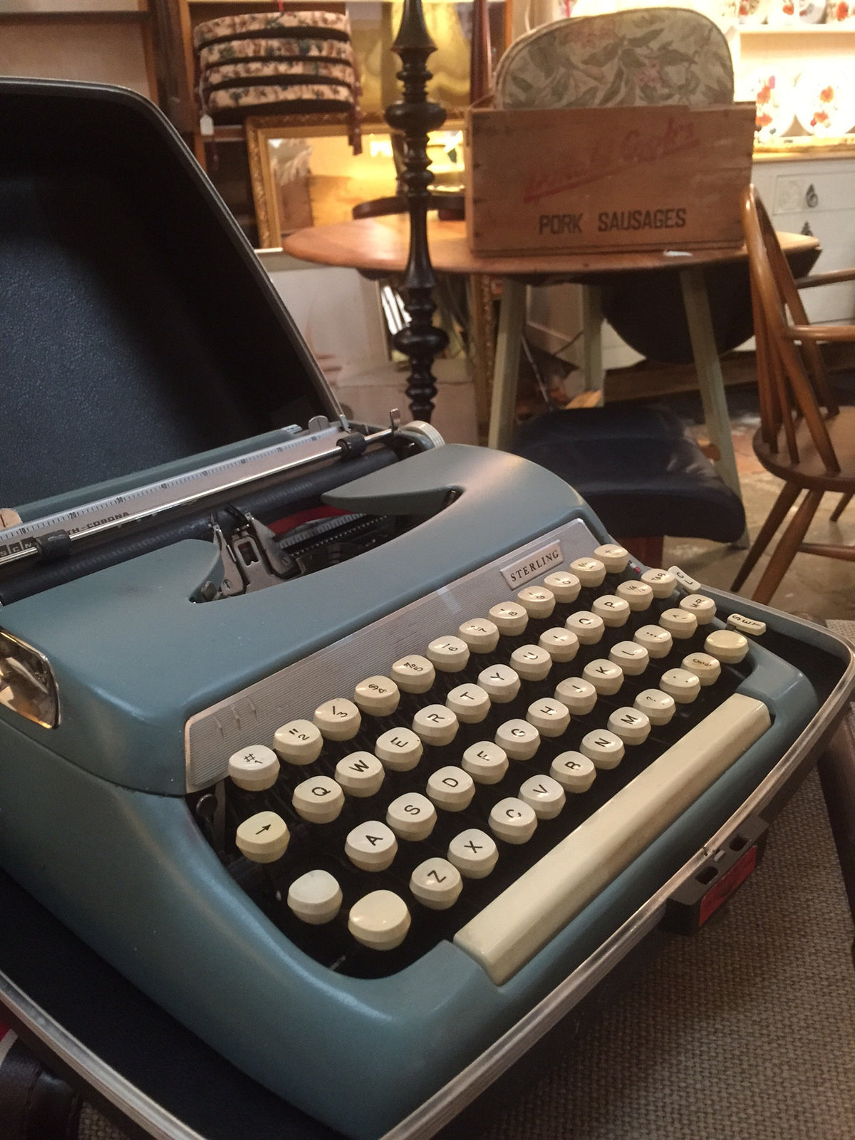 Portable Typewriter Smith-Corona Sterling