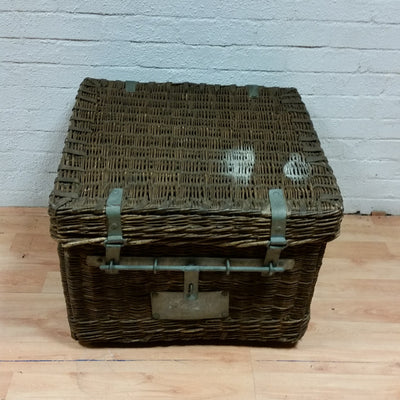 Industrial Wicker Laundry Basket