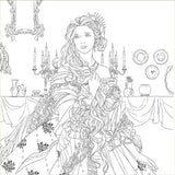 Coloriage Lady <br> Anti Stress