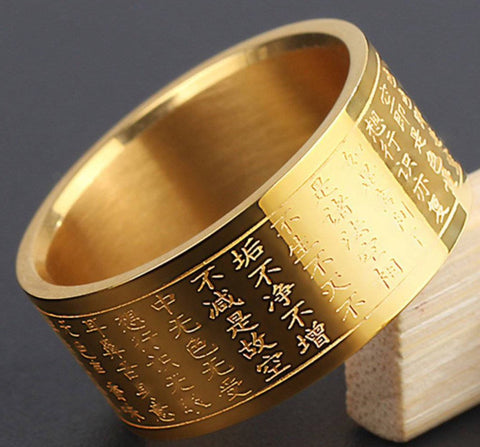 Bague Inscription Bouddha  Anti Stress | Le Monde Anti Stress