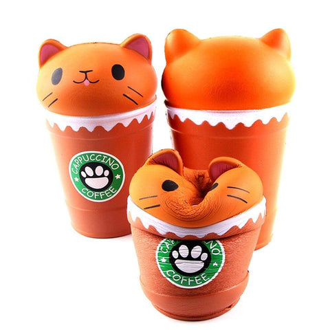 Balle Chat dans un Pot Kawaii Anti Stress|Le Monde Anti Stress