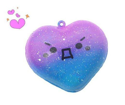 Balle Coeur Galaxie Kawaii Anti Stress