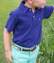 Load image into Gallery viewer, J Bailey Royal Blue Henry Polo