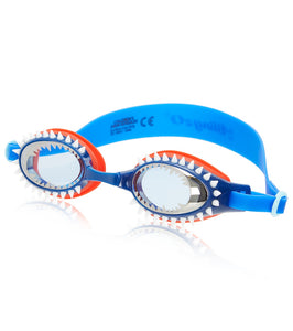Bling2o Fish N Chips Tiger Shark Navy Swim Goggles