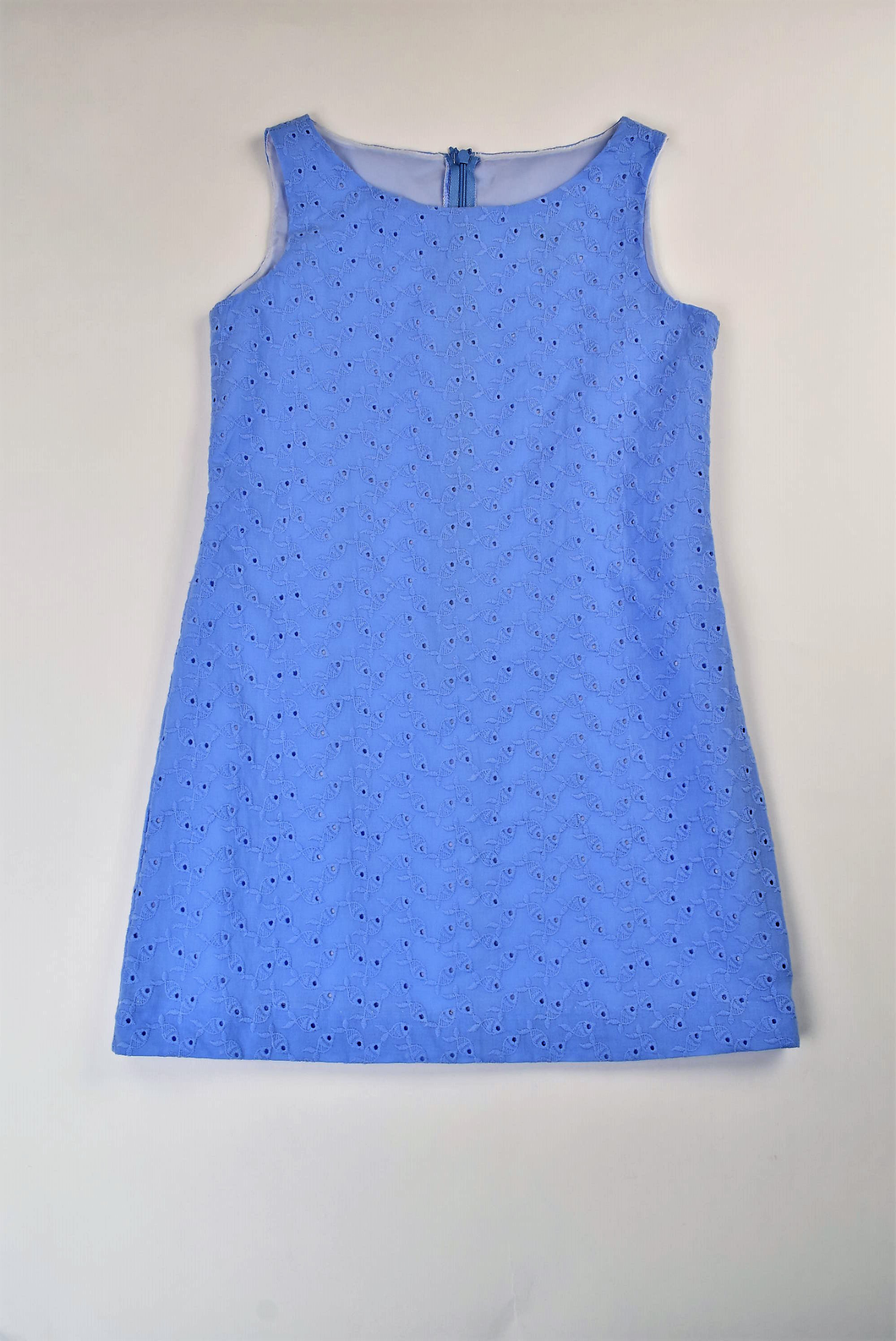Maggie Breen Blue Eyelet Tween Dress