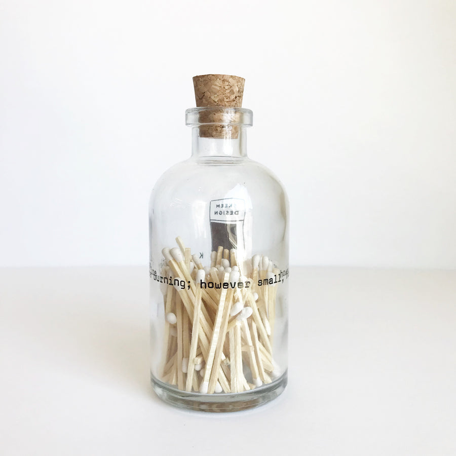 Apothecary Match Bottles - Poetry