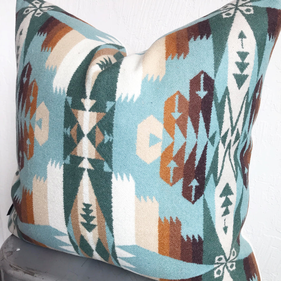 Northwest Pillow Cover - Tucson Aqua (square)