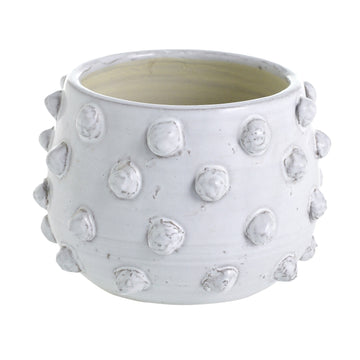 White Ceramic Bubble Planter