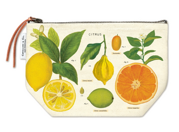 Citrus Canvas Pouch