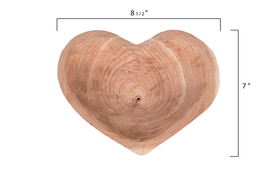 Wood Heart Bowl