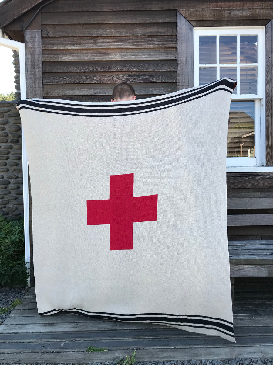 Swiss Cross with Stipes Blanket