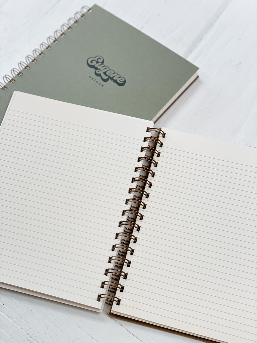 Eugene Oregon Lined Notebook