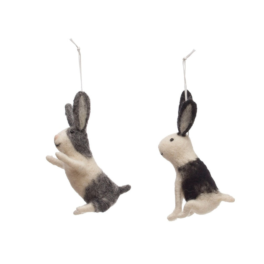 Wool Felt Rabbit Ornament