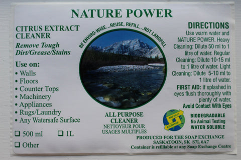 Cleaners - Nature Power - 1L