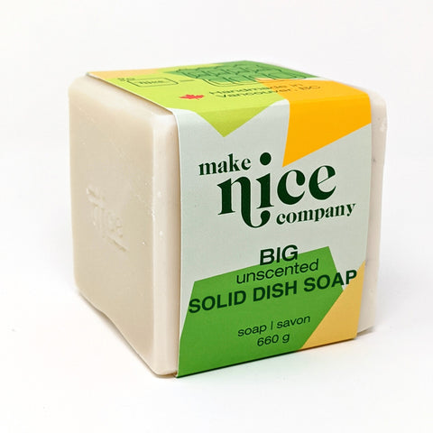 Make Nice Co. - Dish Block BIG - Unscented