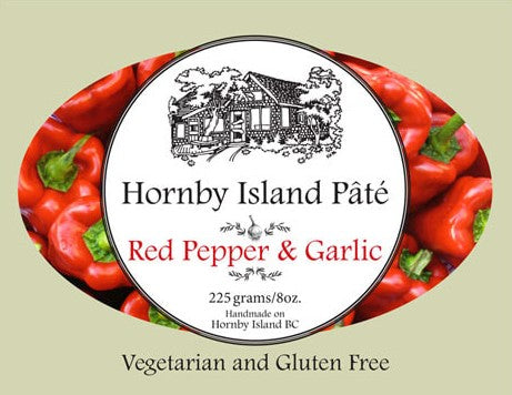 Hornby Island Pâté - Red Pepper & Galic  225g