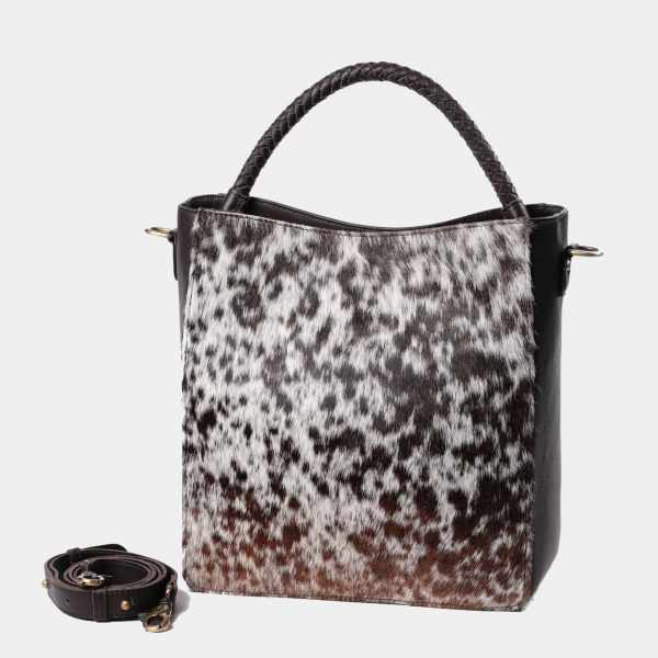 Camila Leather Shoulder Bag (Hair On)