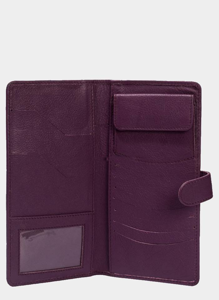 Passport Travel Kit with a coin pouch Purple