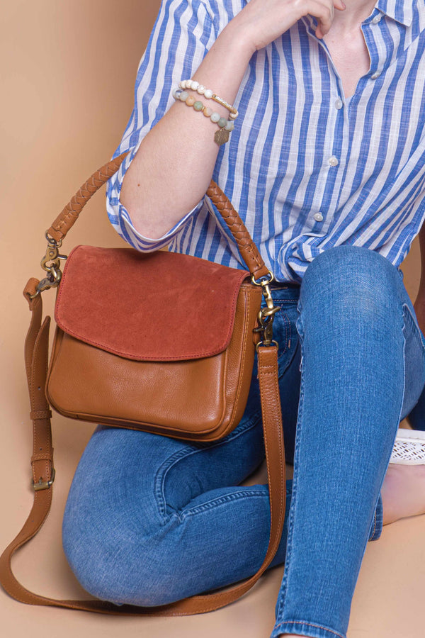 Zoey crossbody Tan