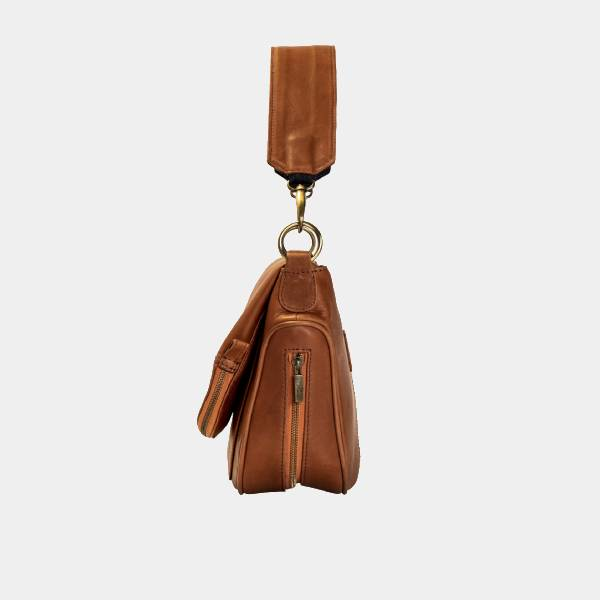 Aria leather Crossbody (Tan)