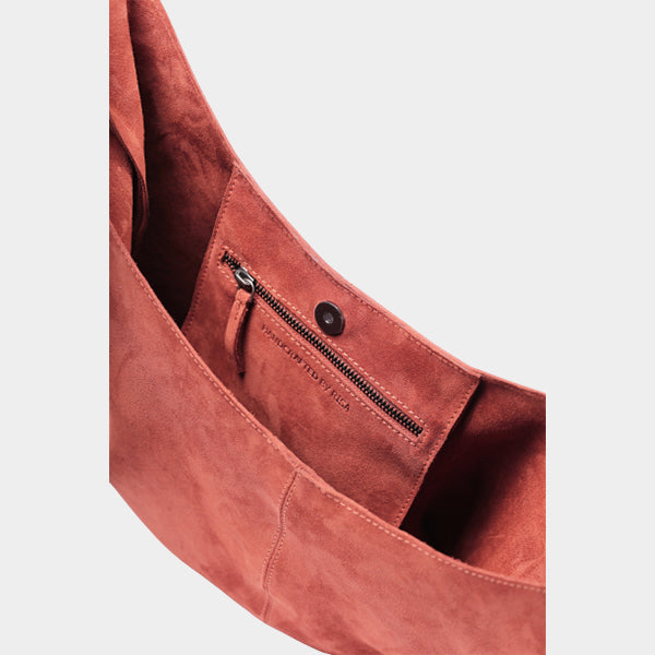 Knot Rust Suede