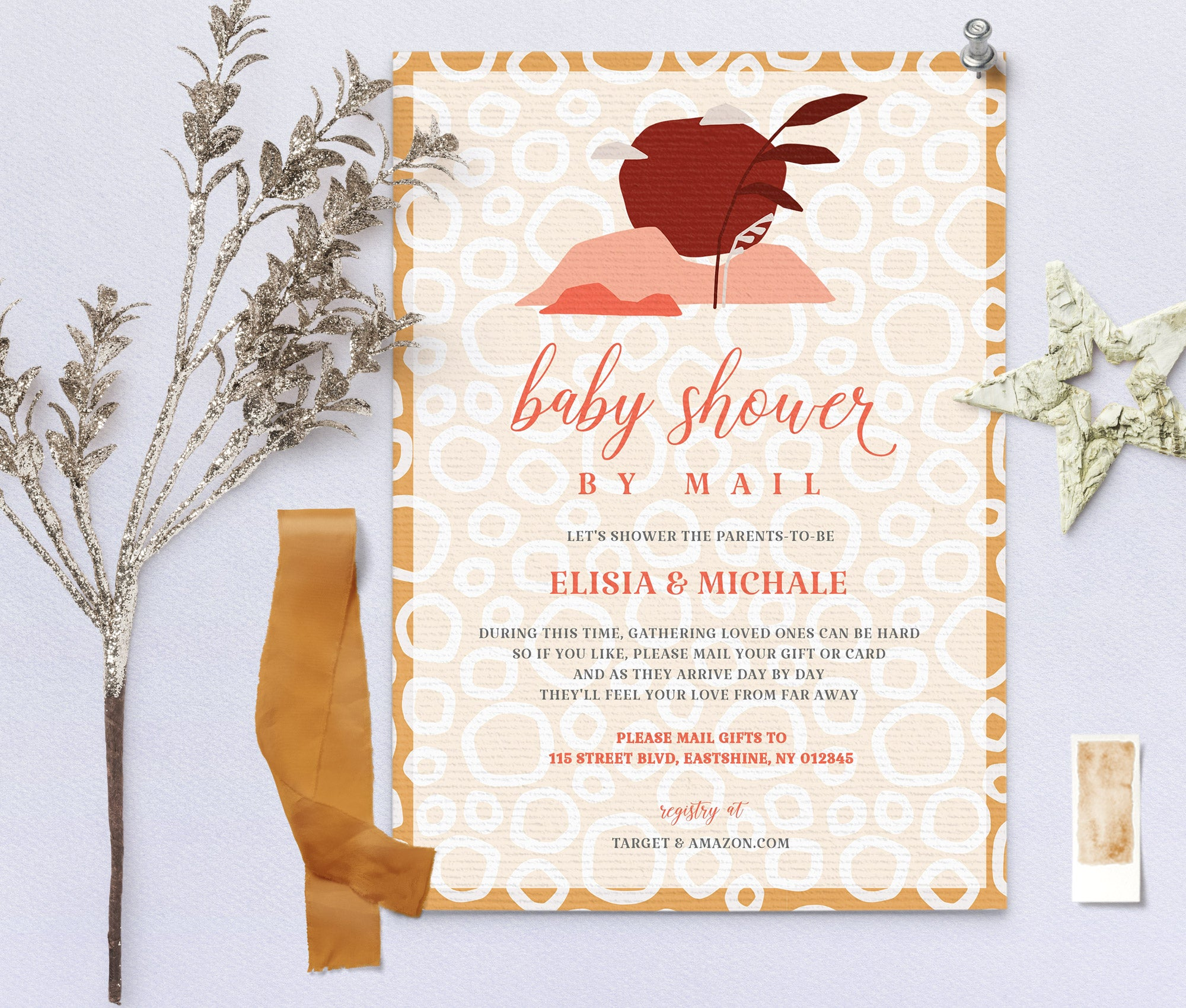 Baby Shower by Mail Invitation 2