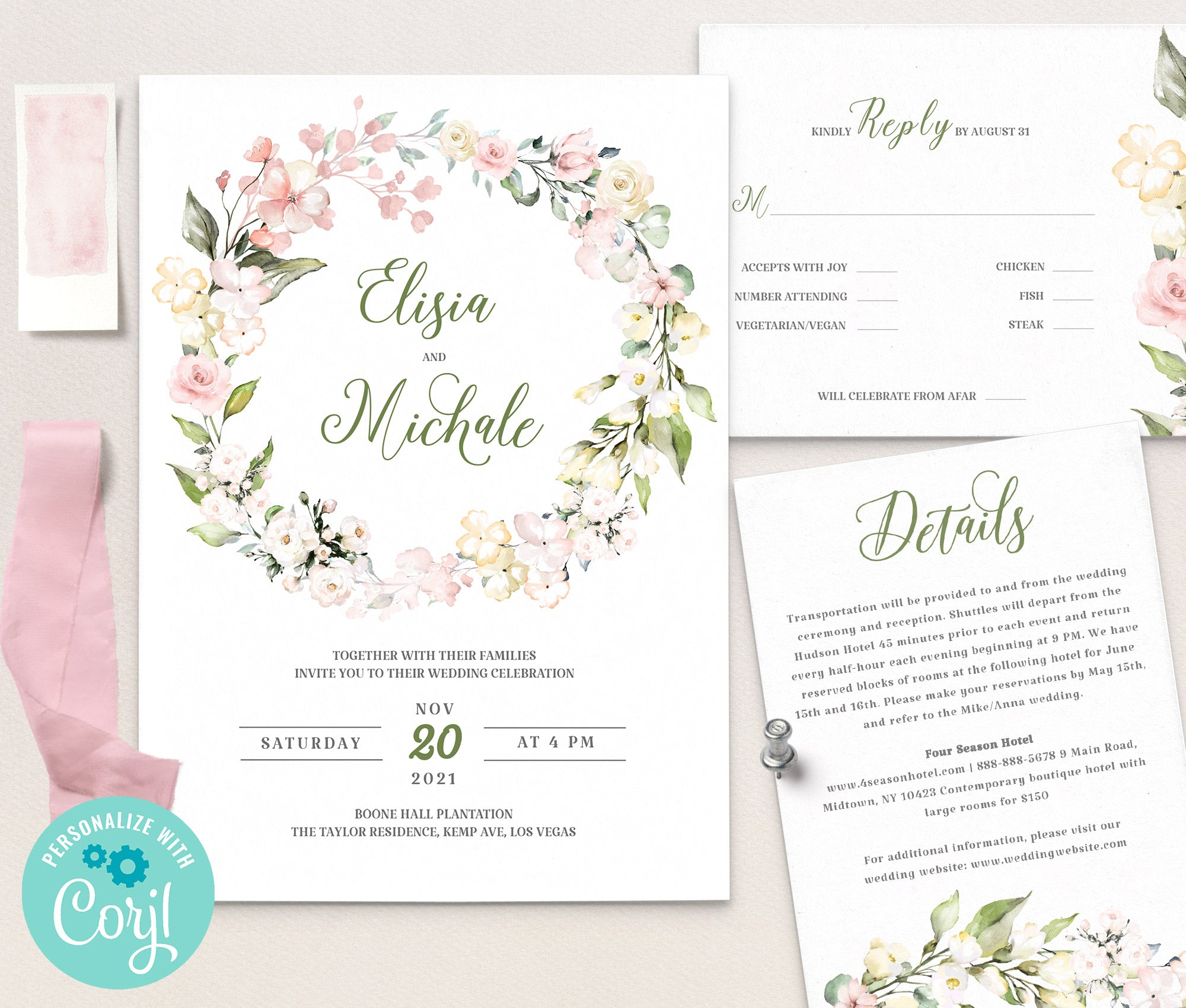 LOVAL Wedding Invitation Template set 9