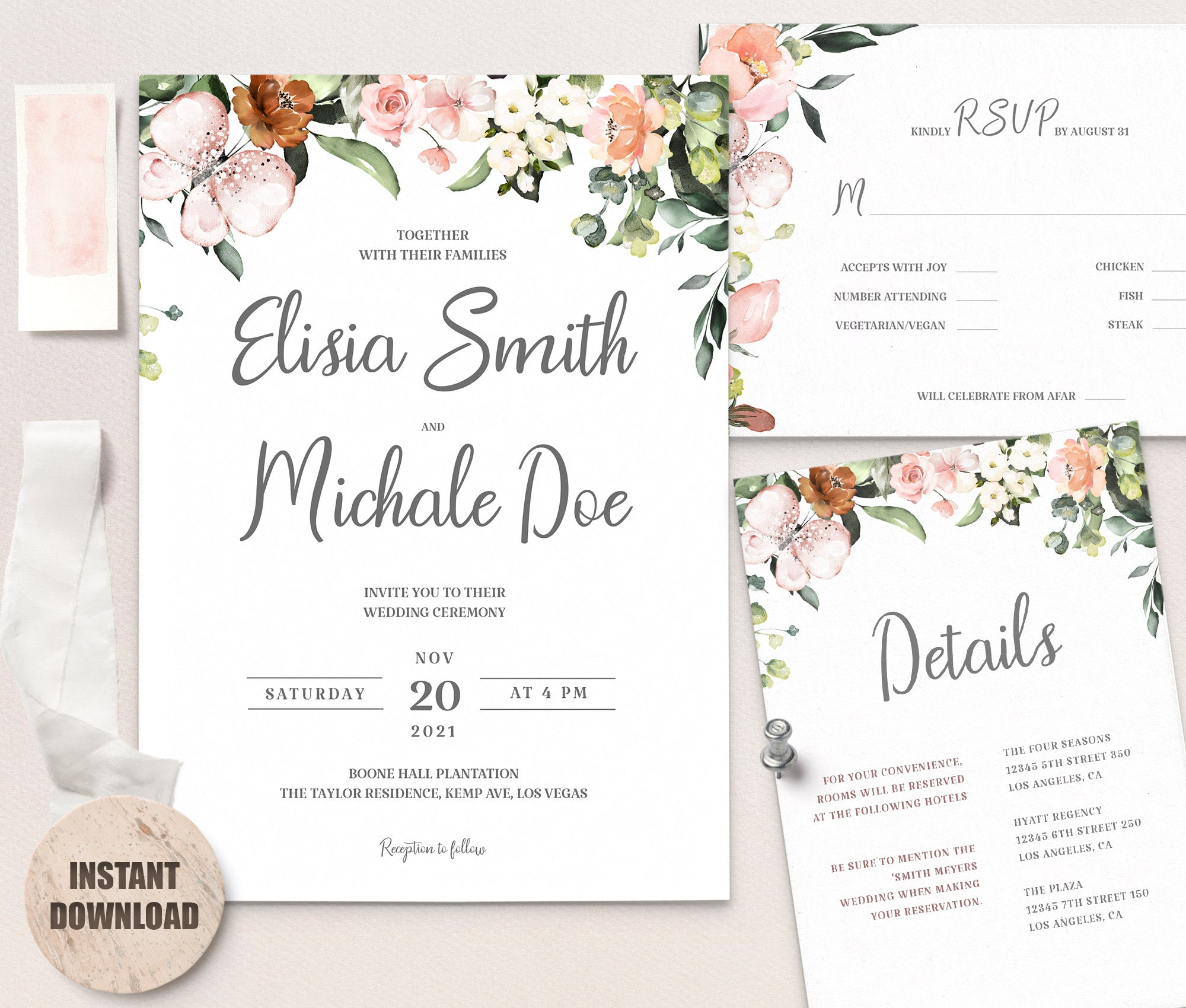 LOVAL Wedding Template Bundles set 3