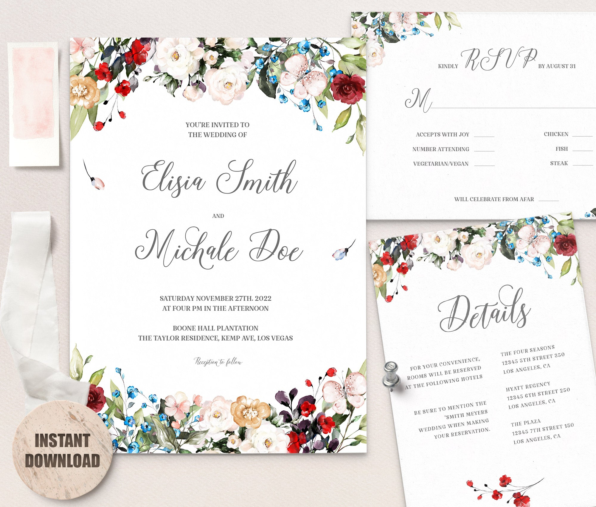 LOVAL Wedding Template Bundles set 4