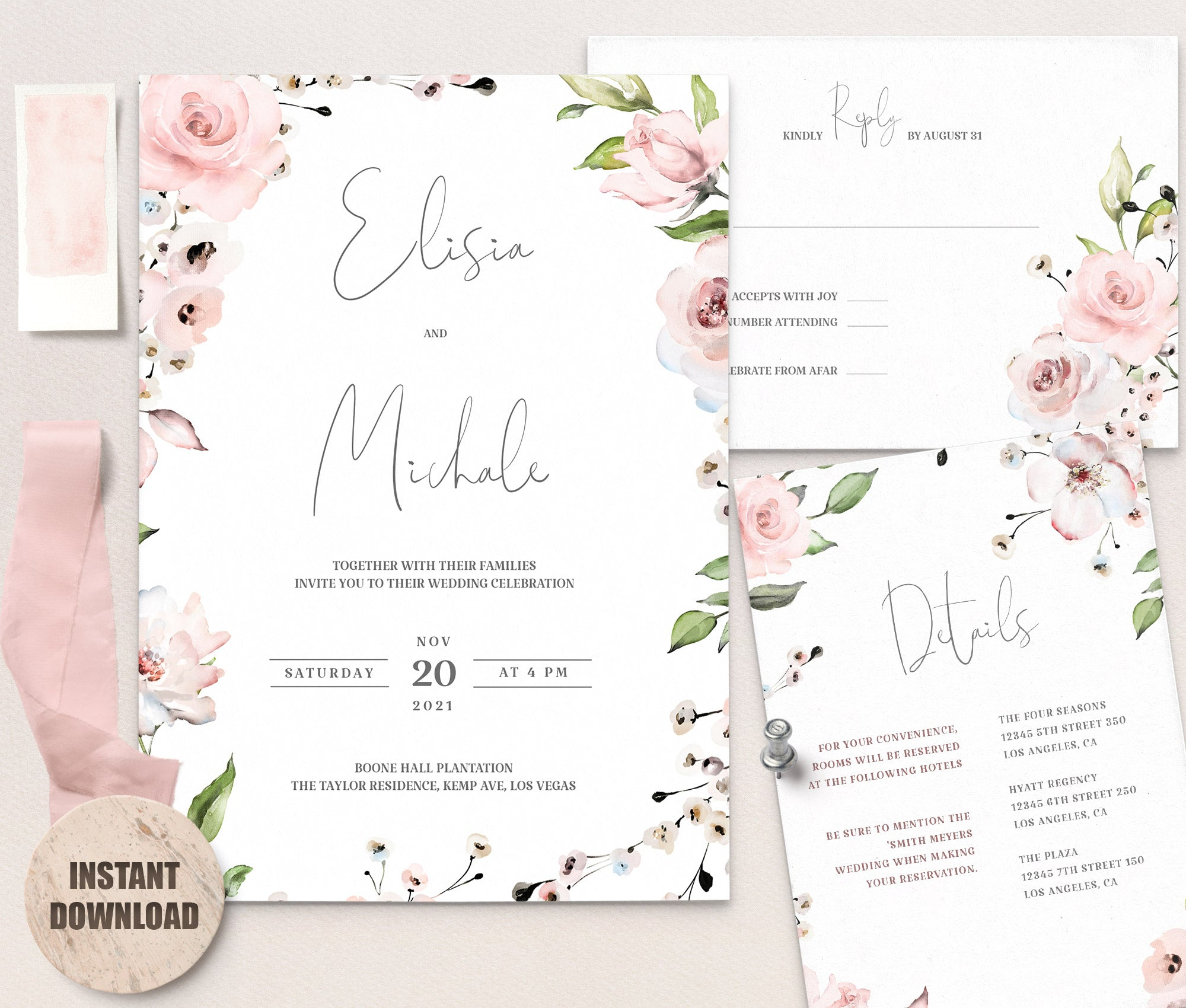 LOVAL Wedding Template Bundles set 1