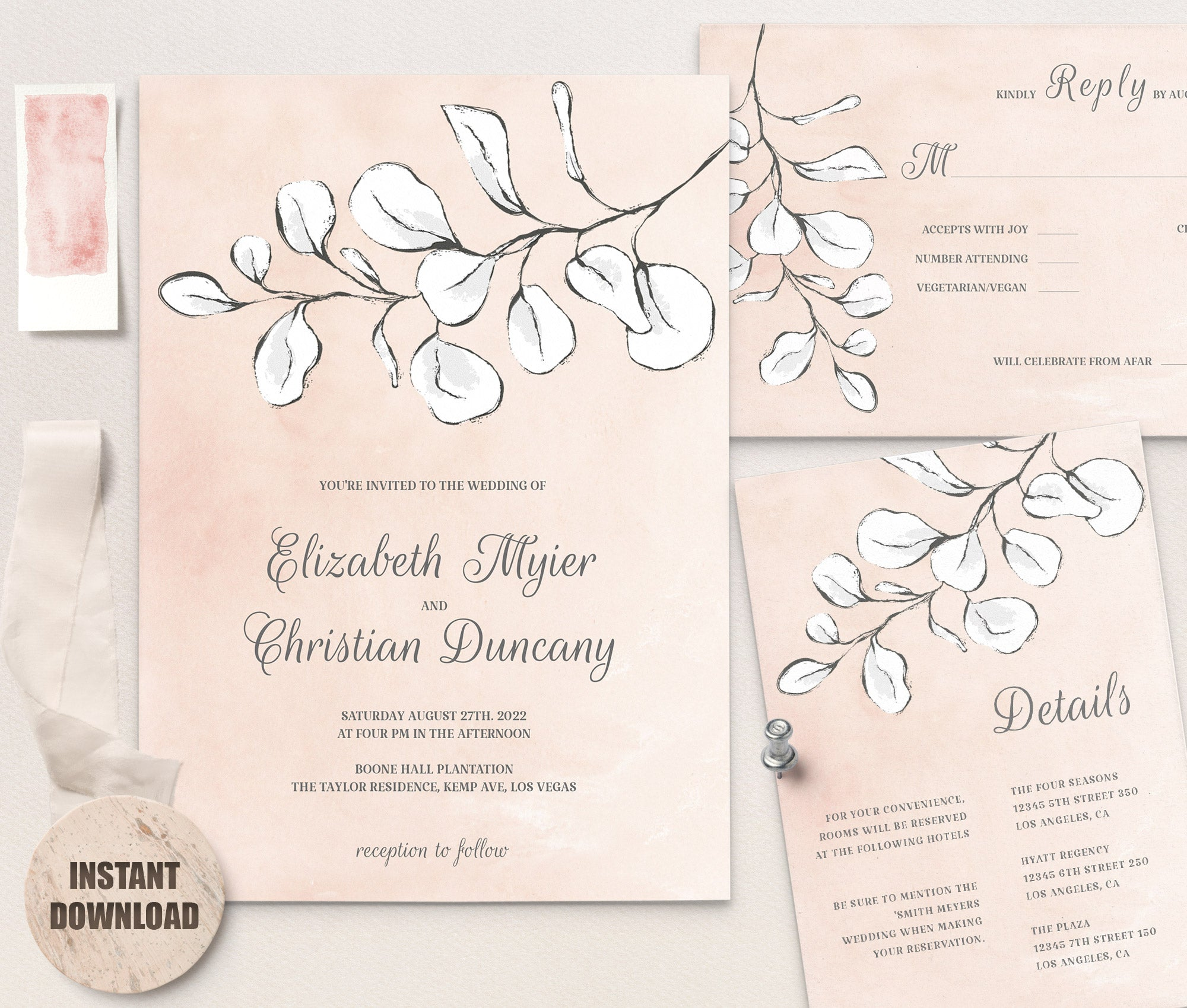 WEDDING INVITATION Template - Rema