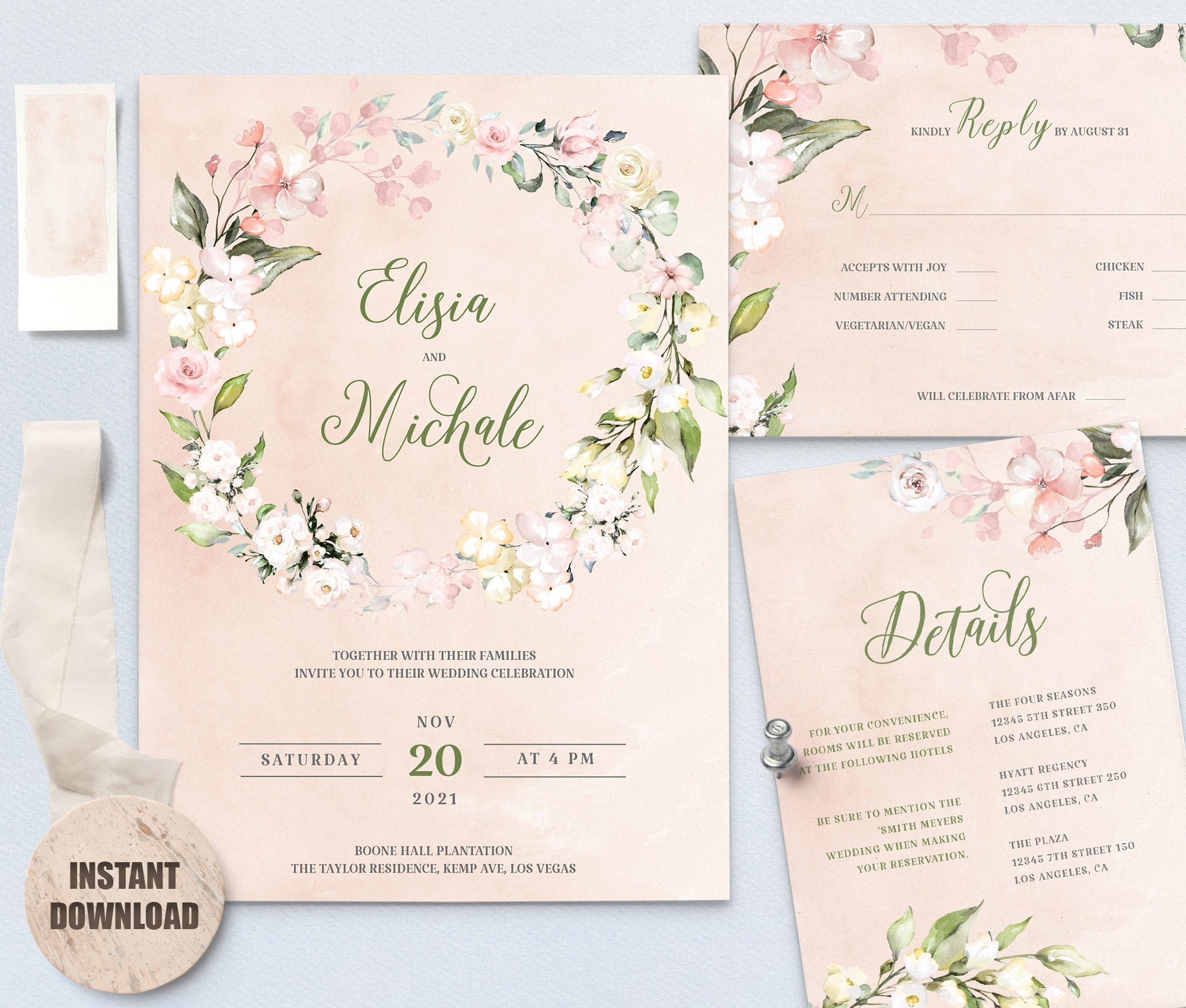 LOVAL Wedding Template Bundles set 5