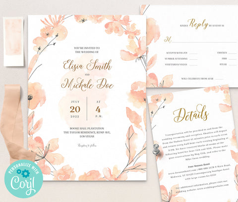 LOVAL Wedding Invitation Template set 10