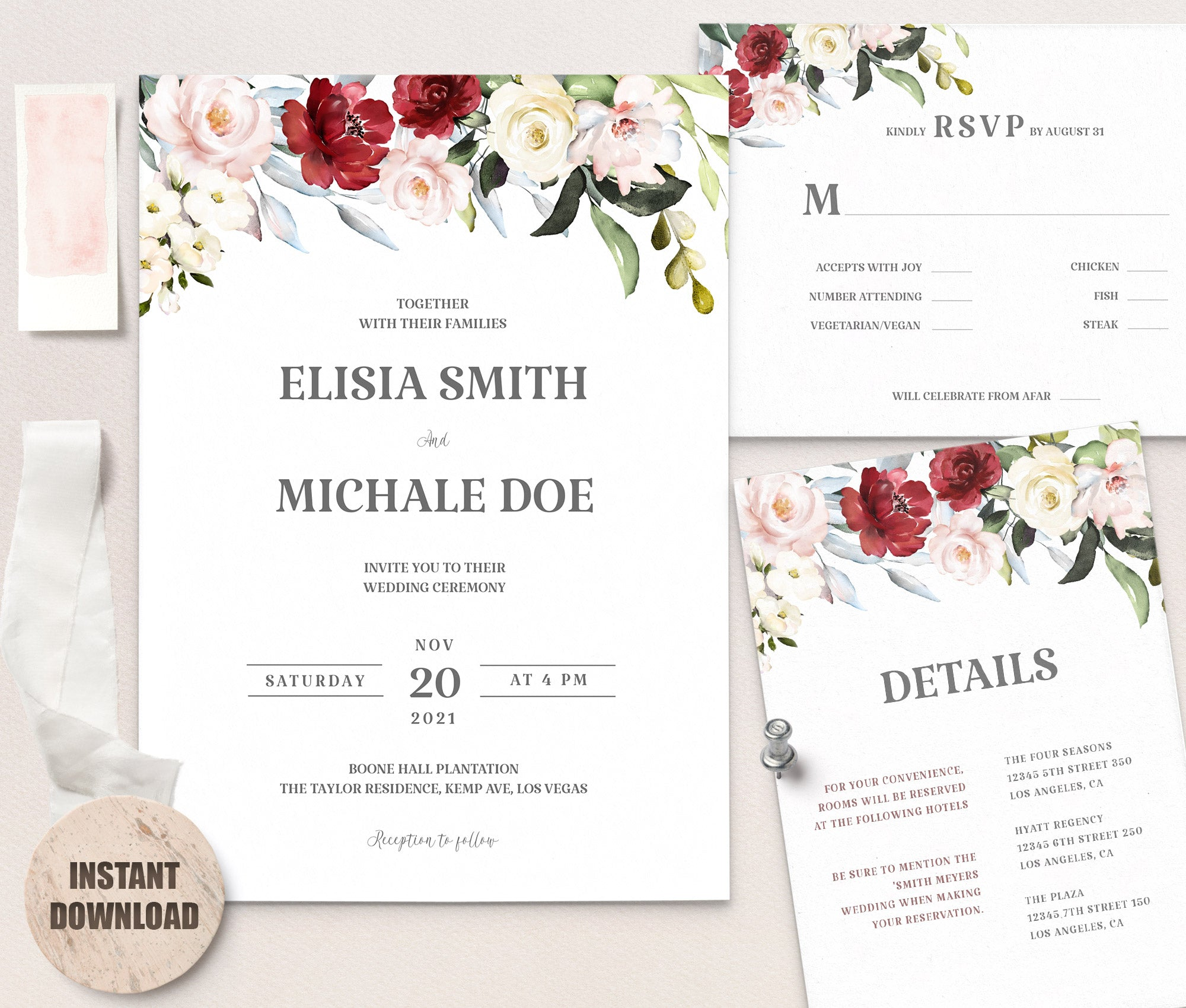 LOVAL Wedding Template Bundles set 2