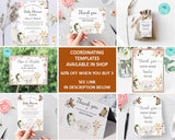 Baby Shower by Mail Template - Baby shower invitation - Shower by Mail - Baby Shower invite - Editable Text - Instant Download - 3606 BS3601