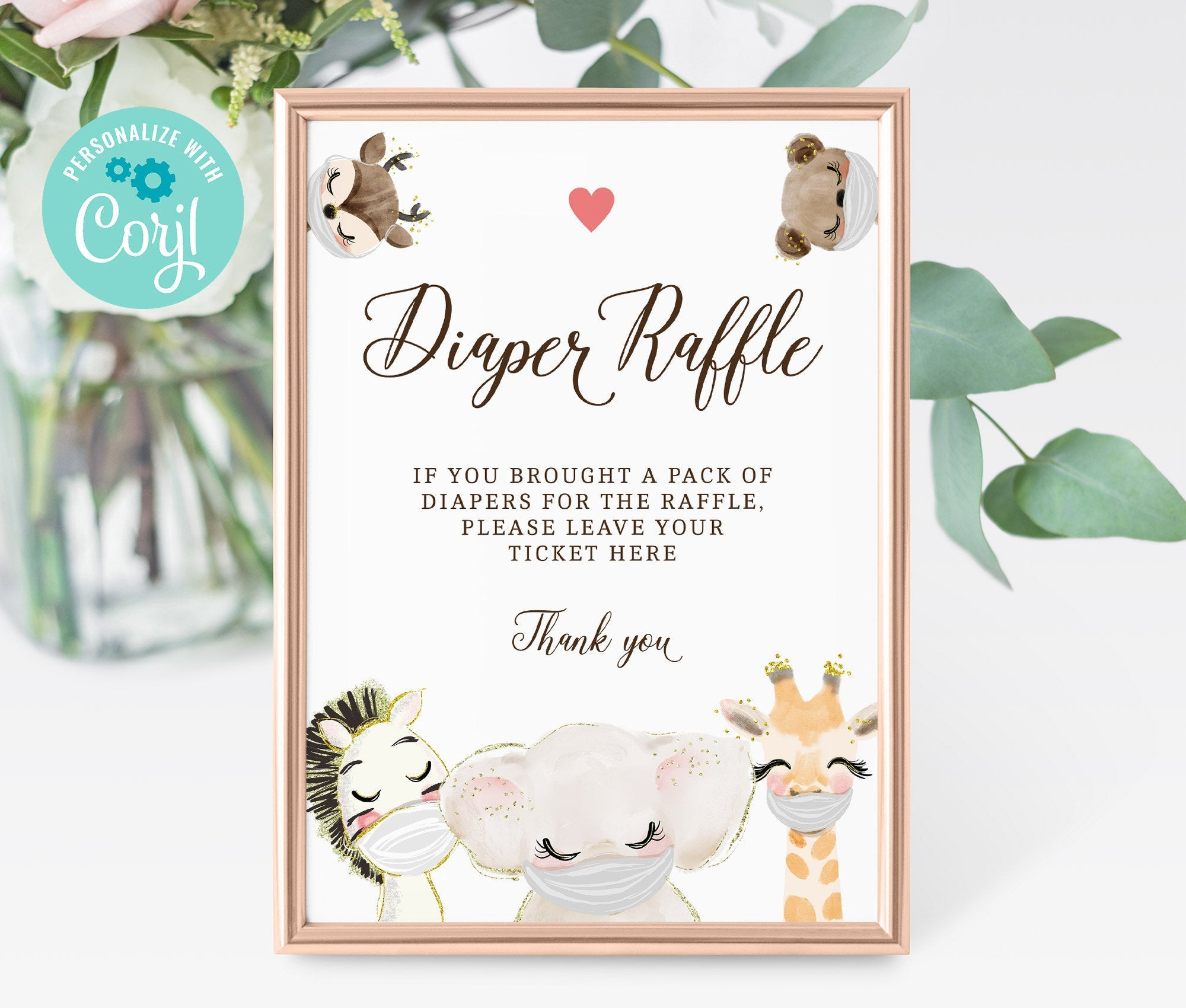 Diaper Raffle Sign - Baby Shower Diaper Raffle Sign - Printable Baby Shower Sign - Editable - Instant Download - BS3601 - 3601