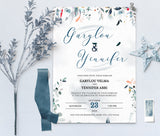 SPMR - Wedding Invitation and RSVP set 4 - Greenlanderdesign