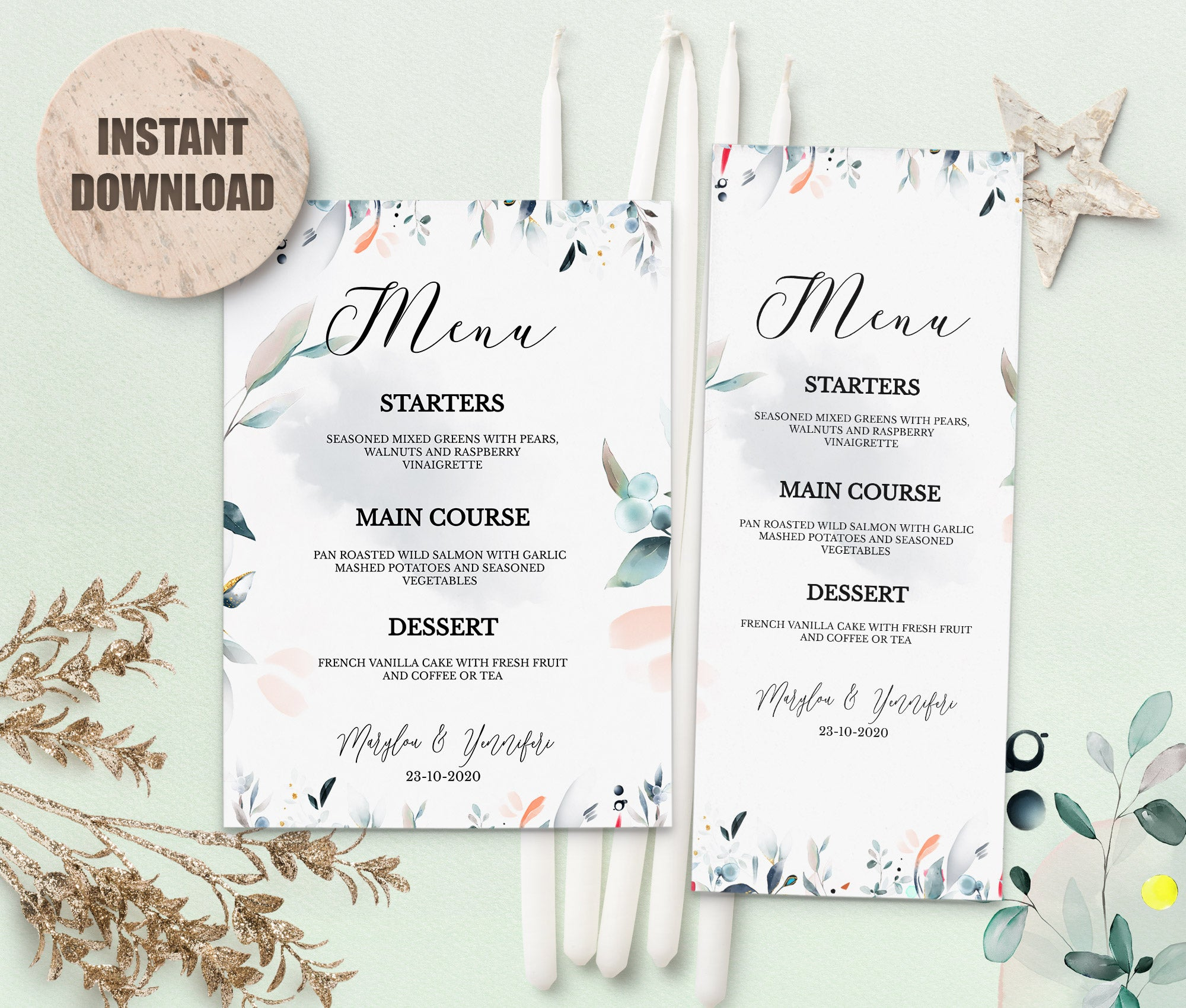 SPMR - Menu set 1 - Greenlanderdesign