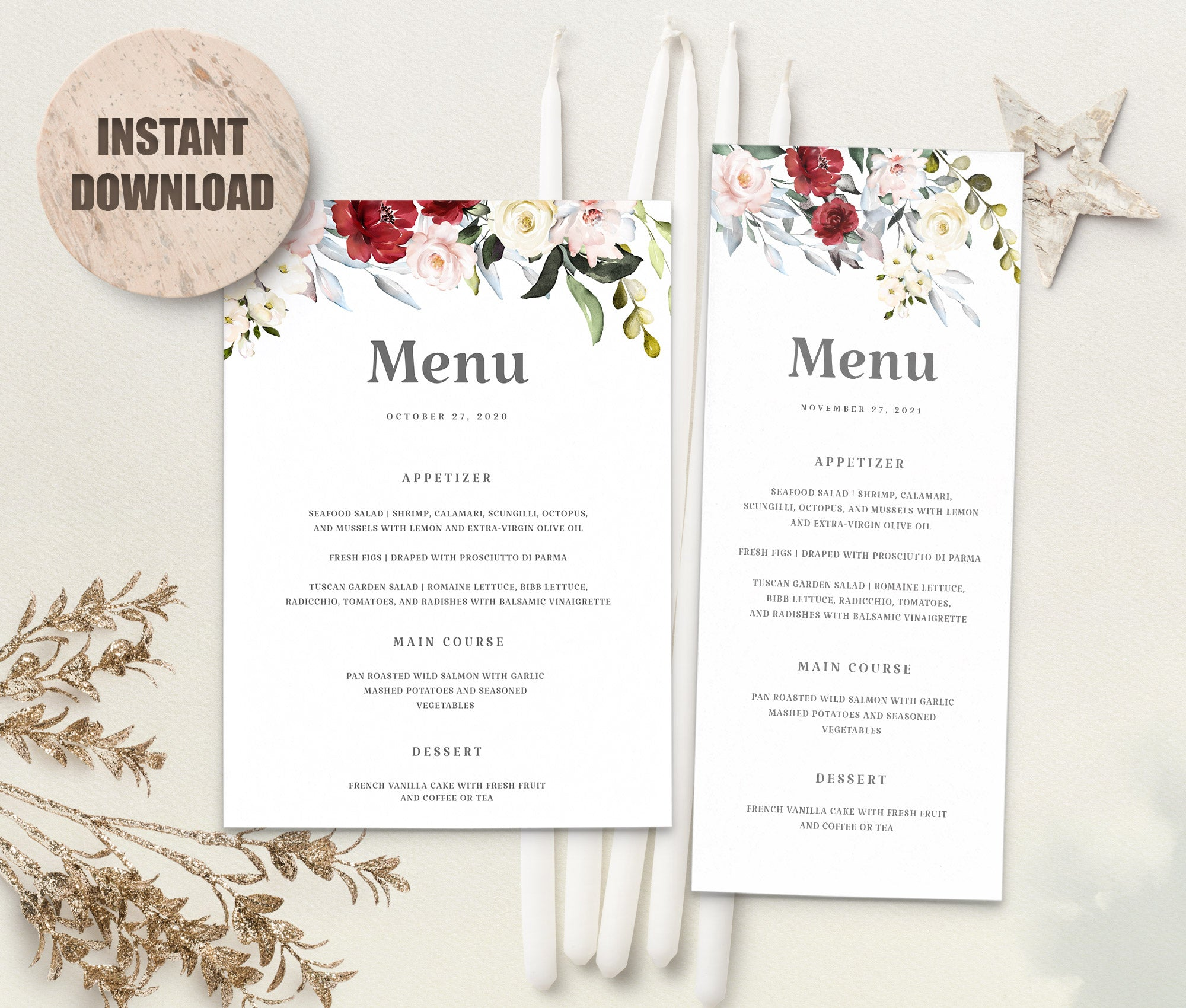 LOVAL Menu Template set 2