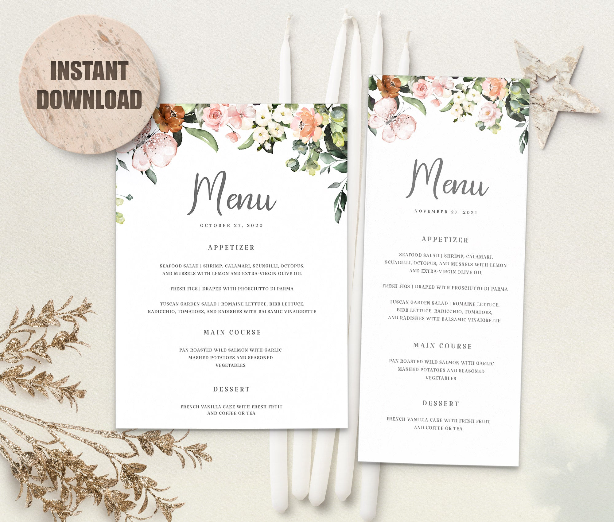 LOVAL Menu Template set 3
