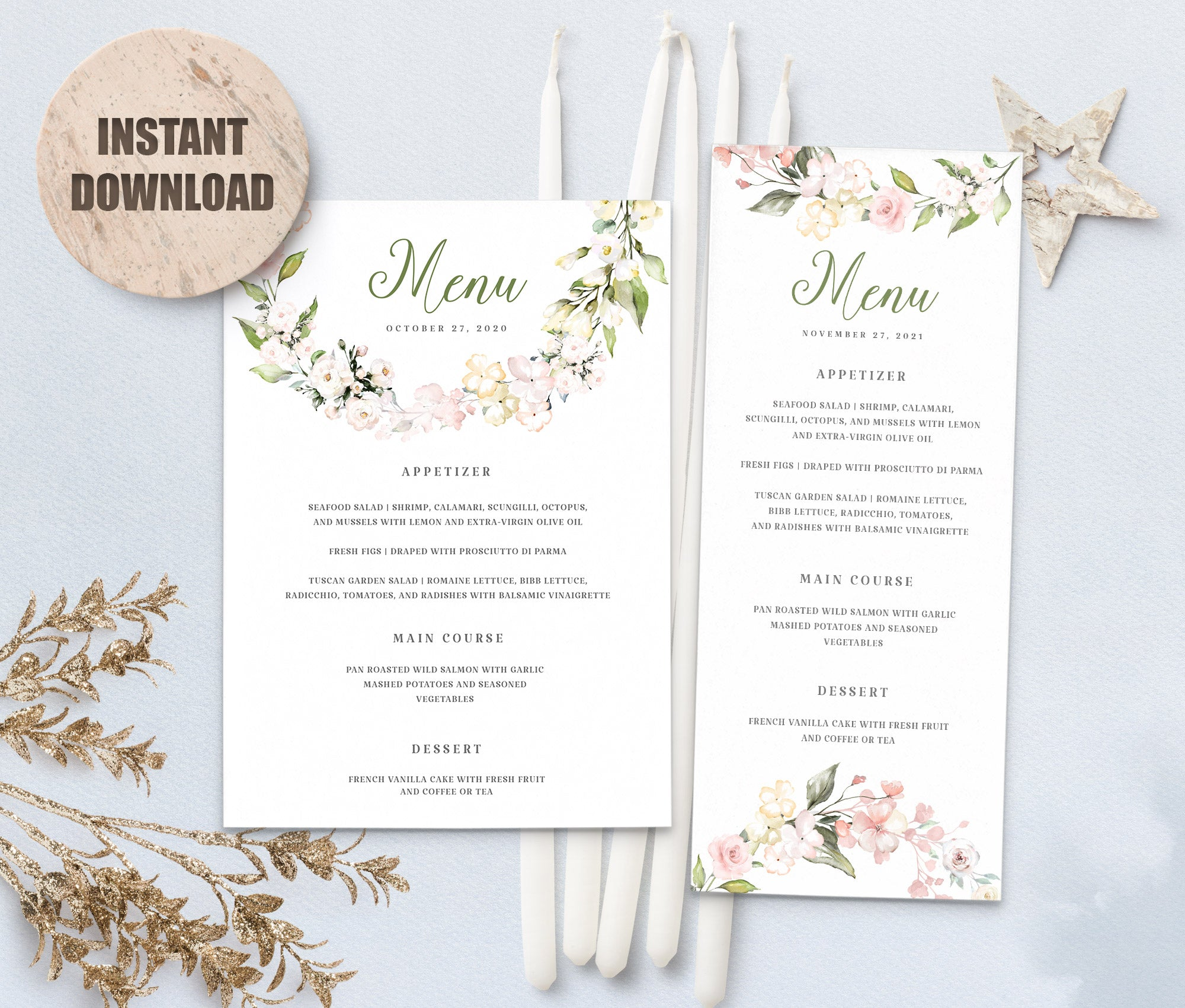 LOVAL Menu Template set 6