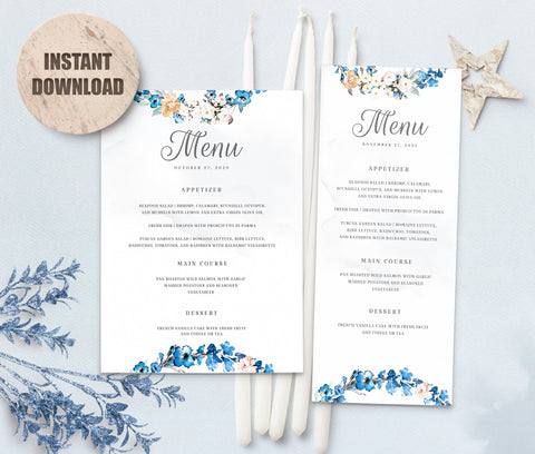 MELLY Wedding Menu Template set 3